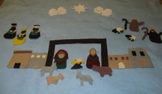 Felt Nativity Advent Calendar:  put one piece of the nativity up each day.