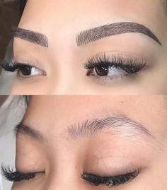 makeup dupes – Hair and beauty tips, tricks and tutorials Mircoblading Eyebrows, Permanent Makeup Eyebrows, Cut Crease Makeup, Body Makeup, Eyebrow Makeup, Beauty Lash, Beauty Makeup, Maquillage Cut Crease, Makeup Pictorial