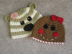 Love these hats! This was the first image I saw that inspired me to learn crochet :)