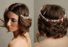 Wedding Hairstyles for Short Hair with Headband | Bridal Hairstyles for Short Hair - Whiteme.net