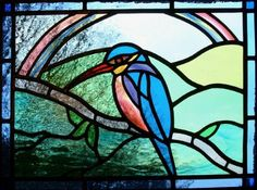 Stained Glass Kingfisher (88 pieces)