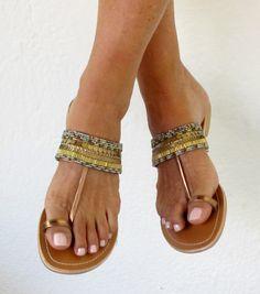 Aspiga   Turquoise Lalo Leather Beaded Sandals by Aspiga