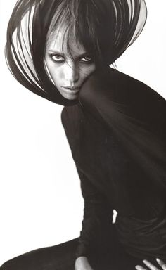 Christy Turlington shot by Mario Testino for French Glamour, December 1993