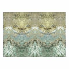 KESS InHouse Pia Schenider 'Heavenly Abstractation' Gold Green Dog Place Mat, 13' x 18' >>> New and awesome dog product awaits you, Read it now  : Dog food container