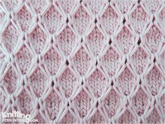 Diamond Mesh Slipped stitch | Knitting Stitch Patterns