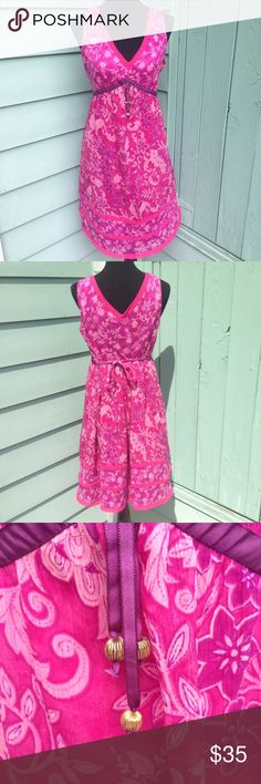 Motherhood Maternity Pink Floral Summer Dress Beautiful vibrantly cored dress. In excellent condition from smoke-free, per-free home. Ships same day if ordered by 10:00 CST. Bundle with nursing bras or other items for 15% bundle discount. Motherhood Maternity Dresses Midi