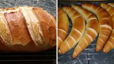 2 Healthy Homemade Bread, Homemade Breads, Croissant Bread, Ciabatta, Croissants, Hot Dog Buns, Baked Goods, Cake Recipes, Biscuits