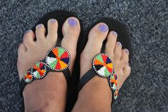 Handmade Maasai Sandals Size 39 european by Beauty4aCause on Etsy