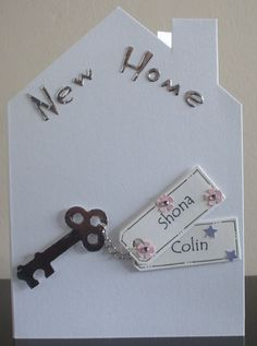 new home card shaped card blank