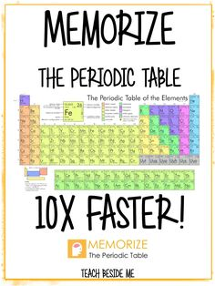 Memorize the Periodic Table is part of Teaching chemistry - I have had lots of traffic recently on my site for the Periodic Table Battleship This post goes right along with it I have to share with you another super fun way to Memorize the Chemistry Periodic Table, Chemistry Classroom, High School Chemistry, Chemistry Notes, Chemistry Lessons, Teaching Chemistry, Science Chemistry, Middle School Science, Physical Science