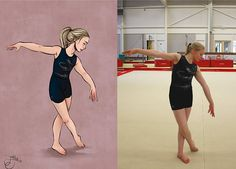 Personalized portrait illustration of a gymnast/dancer. Perfect as a gift for a friend or family member who loves gymnastics or dancing! The photo is just an example, what you get is a fully personalized illustration! What do you get: - A digital drawing of you or a friend/family member, colored with simple shadows and light. - With a simple monochrome textured background in a color of your choice. - I also add my signature in a corner (see example picture). - The illustration wi...