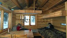 Interior, bunkbed loft bed, Norwegian Log Cabin