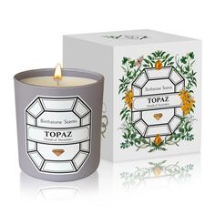 DescriptionThe purifying scent of Silver lavender and blue amber enlivened by Copaiba copal.Burn time: 60 hours 240 G / OZ Candle Dimension: tall, wide Cotton wick - Wax: Soy Blend The Story of AmethystOne day the Buddha received. Winter Quarters, Running Bear, Diamond Candles, Push Presents, Blue Amber, Copaiba, Black Currants, Garnet Stone, White Box