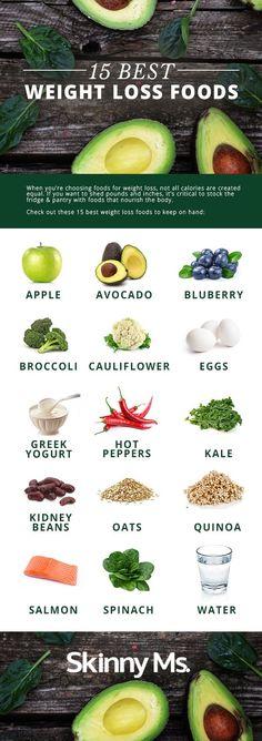15 Best Weight Loss Foods #weightlossrecipes