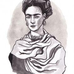 'Frida' Illustratie door Sanny van Loon – 21 x 29,7 cm