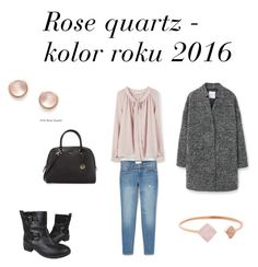 """Rose quartz - colour of the year 2016"" by netstylistka on Polyvore featuring moda, MANGO, Tory Burch, Furla, Michael Kors, Kabella Jewelry, women's clothing, women, female i woman"