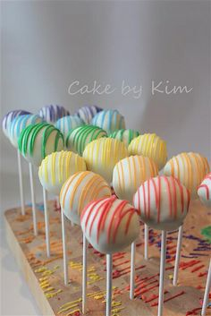 rainbow cake pops | Flickr - Photo Sharing!
