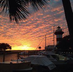 Harbourtown at sunset - Hilton Head, SC.