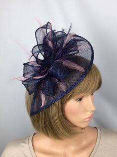 Your place to buy and sell all things handmade Wedding Guest Fascinators, Wedding Hats, Fascinator Hairstyles, Hair Fascinators, High Tea Hats, Blush Pink Fascinator, Facinator Hats, Race Day Fashion, Occasion Hats