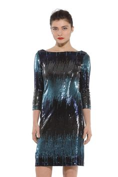 Karen Kane's sequined polyester, rayon and spandex dress.