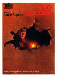 PROFONDO ROSSO aka DEEP RED (Dir. Dario Argento, 1975) - Spanish poster