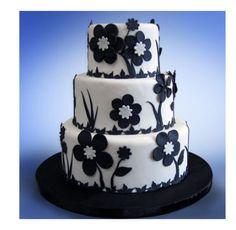 Black and white theme wedding