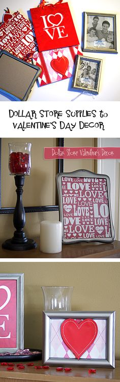 Dollar Store Valentine's Day Decor EASY and Cheap @savedbyloves