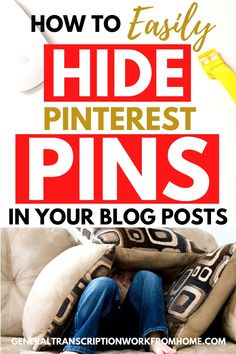 Find out why you should create multiple Pinterest pin images for each blog post, why you want to hide the extra Pinterest images in your blog posts, and 2 easy ways to hide them. #hidepin-terestimages #hidepinsonpinterest #pinteresttips #bloggingtips #bloggingtips