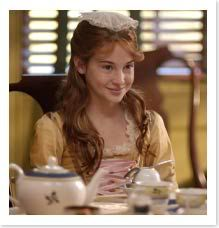The Doll Wardrobe: Colonial Week Day Three! Felicity's Tea Lesson Gown