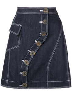 Find amazing denim skirts for women at Farfetch. Explore top jean skirts and designer denim skirts from hundreds of exclusive boutiques. Denim Skirt, Denim Overalls, Denim Outfit, Petite Dresses, Skirt Outfits, Maxi Skirts, Vintage Outfits, Women Wear, Rock