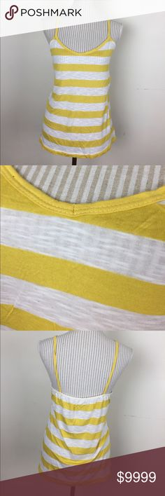 "🆕Yellow Striped Tank Great for layering with a jean jacket. Bust about 32"" with plenty of stretch. Length about 25"". Discount on bundles. Thanks for looking. Rue 21 Tops Tank Tops"
