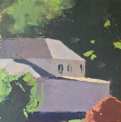 """David Campbell. New Home, oil on canvas, 10x10"""", 2014"""