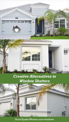 before you buy window shutters, look for a few alternatives to decorating your home to create curb appeal that fits your personality Window Shutters Exterior, Buy Windows, Love Your Home, Home Hacks, House Painting, Curb Appeal, Decorating Your Home, Garage Doors, Alternative