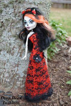 Dia De Los Muertos Monster High Doll Dress by DropDeadFashions, $30.00
