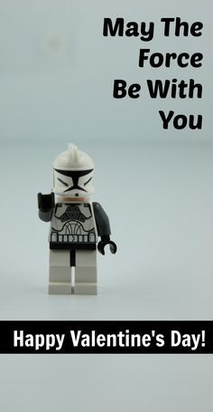 DIY May the Force Be With You Glow Stick Star Wars Lego Valentine - BargainBriana