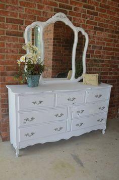 White Shabby Chic French Provincial Dresser by ShabbyMeBella, $485.00