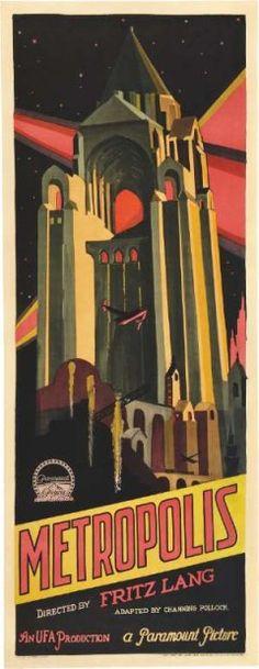 Poster, Metropolis (Fritz Lang, 1927)