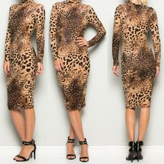 PRE-ORDER price $55 through 10/16/16. Egyptian Goddess of Cats. Bastet Leopard Dress. $70 Body-Con. Mid-length. Long sleeves. Mock Neck. 95% Polyester 5% Spandex. Sizes SML FREE SHIPPING or Pick Up In Store. ARRIVES 10/21/16 | Shop this product here: http://spreesy.com/blacqskirt/68 | Shop all of our products at http://spreesy.com/blacqskirt    | Pinterest selling powered by Spreesy.com