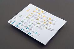 Morningstar Training Calendar by Pouya Ahmadi, via Behance