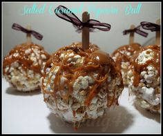 Salted Caramel Popcorn Balls