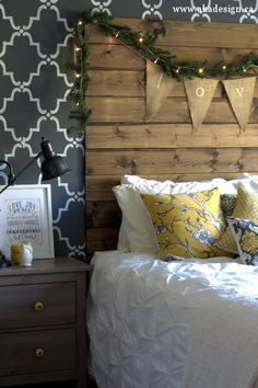 master bedroom Christmas decor. Simple and perfect!