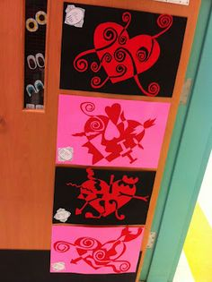 Apex Elementary Art. heart day notan/positive negative art