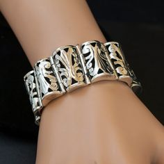Vintage Taxco Sterling Silver Patterned Link by JewelryWanderlust, $795.00