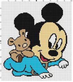 Bamse på Mickey ryg
