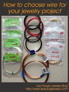 Diy Jewelry 810296157942995728 - How to choose wire for your jewelry project: Lisa Yang's ~ Wire Jewelry Tutorials Source by Diy Jewelry Rings, Diy Jewelry Tutorials, Diy Jewelry Making, Sea Glass Jewelry, Jewelry Making Supplies, Custom Jewelry, Jewelry Crafts, Jewellery Box, Wire Rings