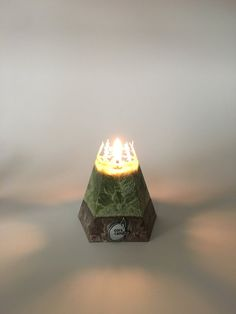 Vegan Wax Pyramid Candle by Corscandles on Etsy