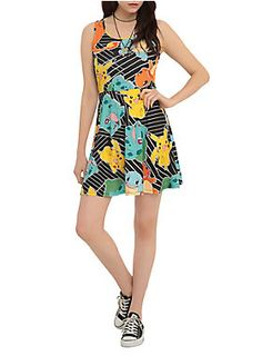 Dress with Pokemon Starters print | Hot Topic