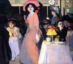 La Terrasse, Cafe d'Harcourt  John Duncan Fergusson