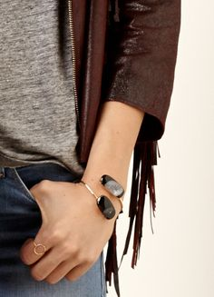 love this stone bracelet // so boho chic