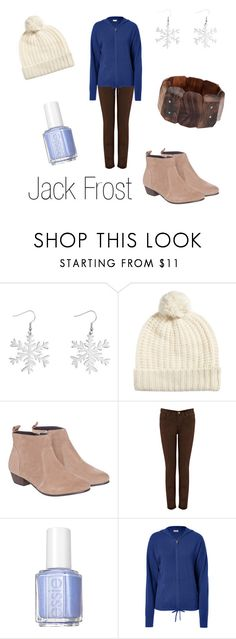 """""""Jack Frost"""" by ja-vy ❤ liked on Polyvore featuring Renaissance Life, Oasis, Miss KG, Essie, Closed, Lotus Jewelry Studio, jack frost and rise of the guardians"""